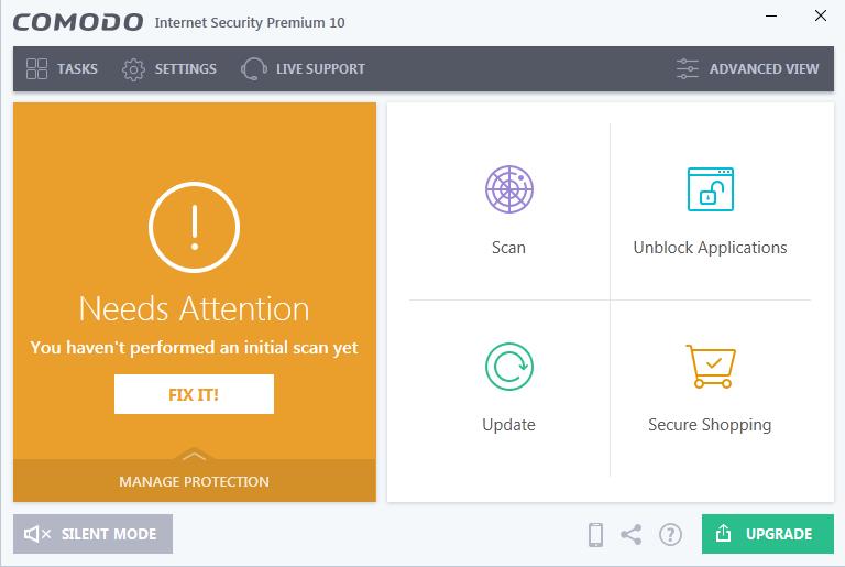 Screenshot for Comodo Internet Security Installation/Setup 14