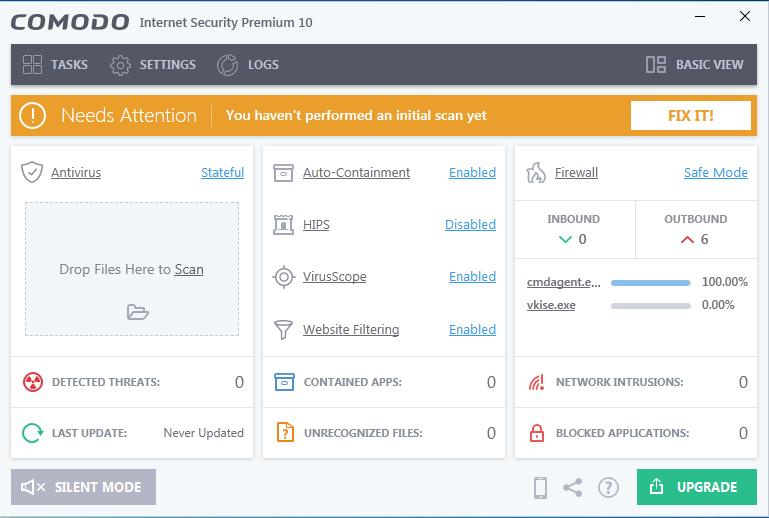 Screenshot for Comodo Internet Security Installation/Setup 15