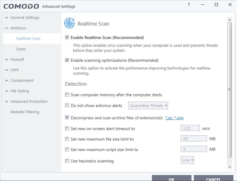 Screenshot for Comodo Internet Security Installation/Setup 17