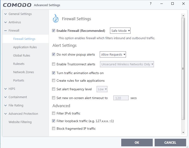 Screenshot for Comodo Internet Security Installation/Setup 18