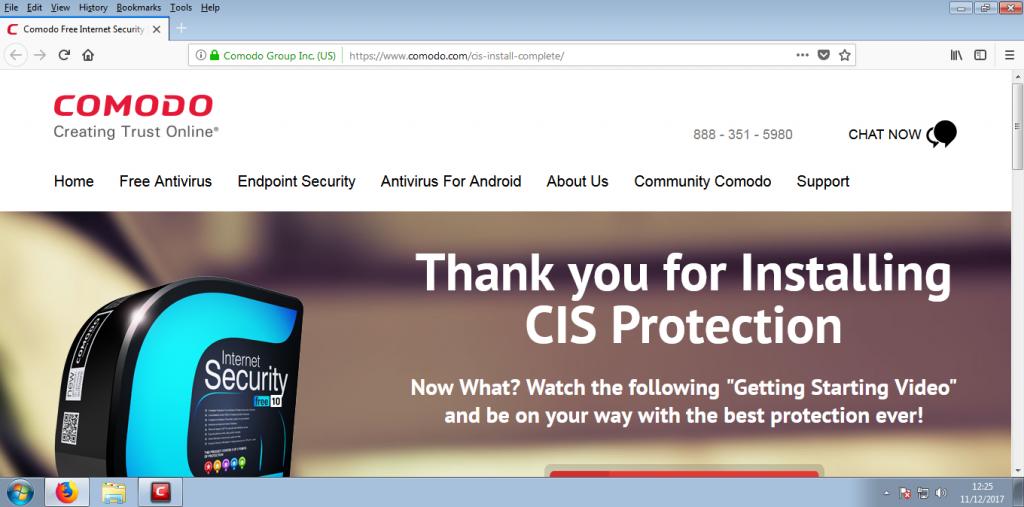 Screenshot for Comodo Internet Security Installation/Setup 19