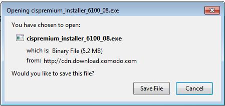 Screenshot for Comodo Internet Security Installation/Setup 2