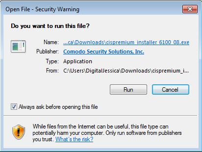 Screenshot for Comodo Internet Security Installation/Setup 3