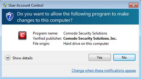 Screenshot for Comodo Internet Security Installation/Setup 4