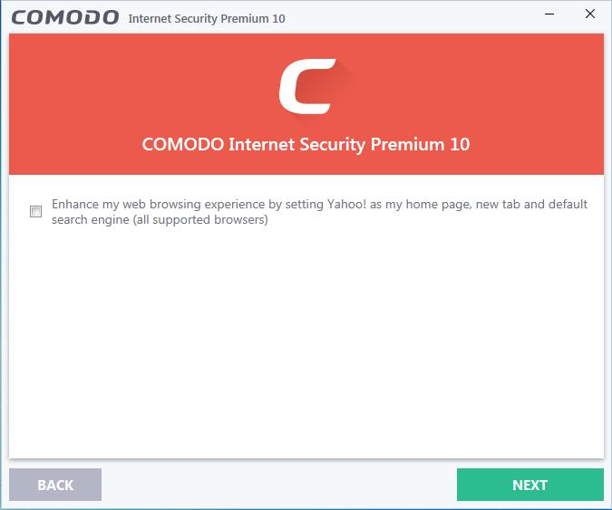 Screenshot for Comodo Internet Security Installation/Setup 5