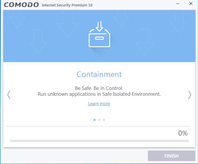 Screenshot for Comodo Internet Security Installation/Setup 8