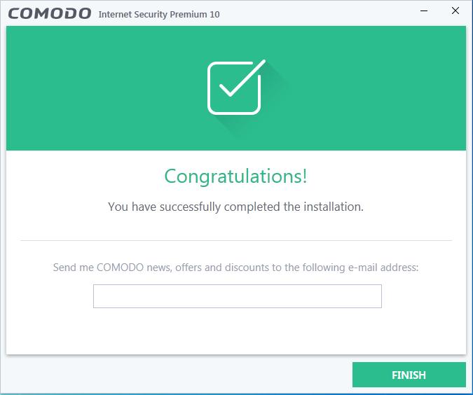 Screenshot for Comodo Internet Security Installation/Setup 9