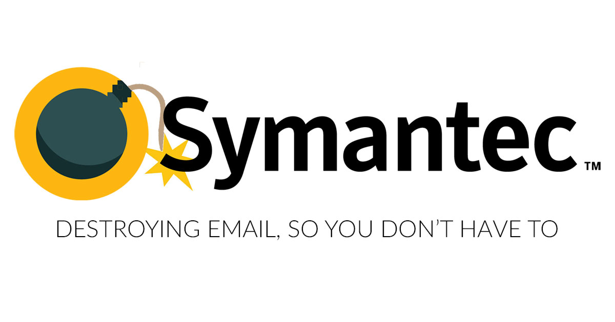 Symantec Logo - Symantec, Destroying Email, so you don't have to.