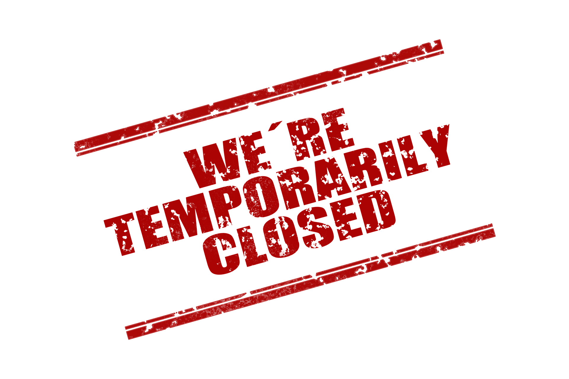 We're Temporarily Closed